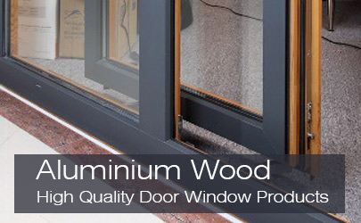 Alwia High Quality Aluminium Wood Series Doors Windows